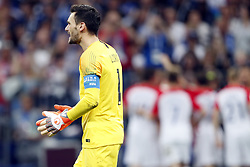 (l-r) France goalkeeper Hugo Lloris during the 2018 FIFA World Cup Russia Final match between France and Croatia at the Luzhniki Stadium on July 15, 2018 in Moscow, Russia