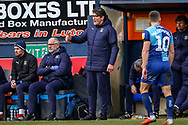 Luton Town interim manager Mick Harford during the EFL Sky Bet League 1 match between Luton Town and Wycombe Wanderers at Kenilworth Road, Luton, England on 9 February 2019.