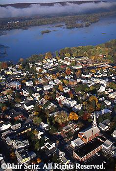 PA Landscape, Southcentral Pennsylvania Aerial Photographs Millersburg, Susquehanna River