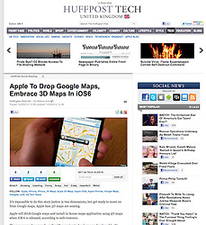 Huffington Post; iPhone and maps