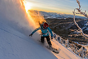 Iris Lazz, morning glory, tetons, wy. Powder and sunrise for breakfast, way better then sleeping in. Cold, beautiful and deep.