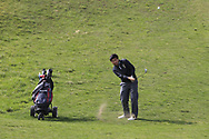 Marco Deane (RBAI) on the 9th during the final of the Irish Schools Senior Championship at Portstewart Golf Club, Portstewart, Co Antrim on Tuesday 23rd April 2019.<br /> <br /> Picture:  Thos Caffrey / www.golffile.ie<br /> <br /> All photos usage must carry mandatory copyright credit       (© Golffile | Thos Caffrey)