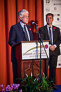 Announcing the winners of the 2015 Scottish Border Business Awards winners of the Best Business for High Growth and Innovation award: RP Adam Ltd, Selkirk.Sponsored by Scottish Borders Business Gateway.<br /> <br /> The 2015 Scottish Border Business Awards, held at Springwood Hall, Kelso. The awards were run by the Scottish Borders Chambers of Commerce, with guest speaker Keith Brown, MSP. The SBCC chairman Jack Clark and the presenter Fiona Armstrong co hosted the event.