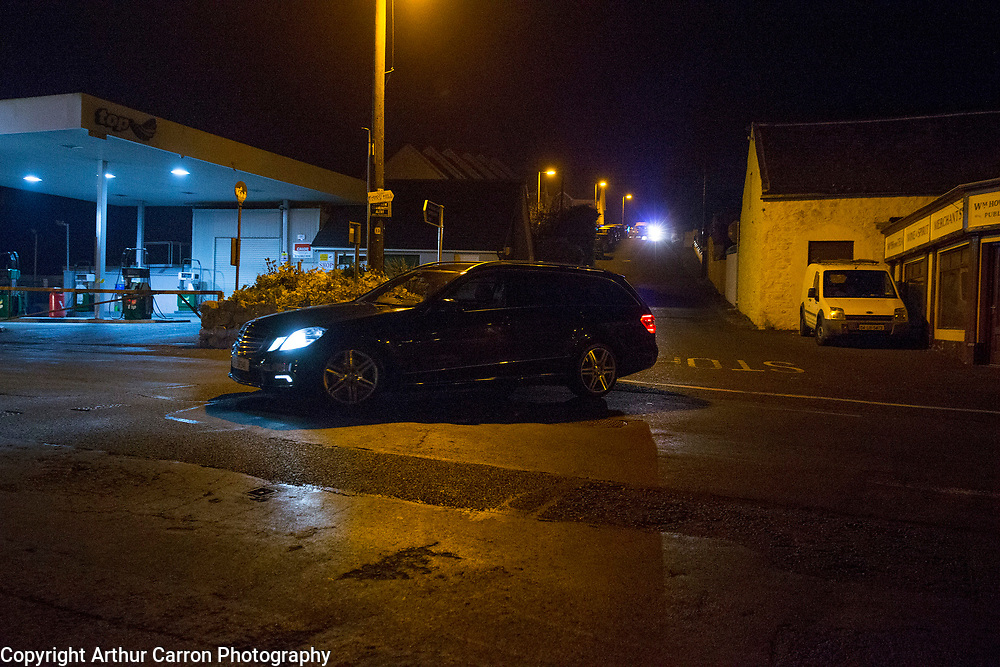 11/10/15 Gardai investigate a shooting in Omeath, Co Louth where two people including a Garda where shot dead. Picture:Arthur Carron