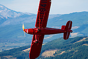 1938 Rearwin Speedster breaking away from the camera plane.