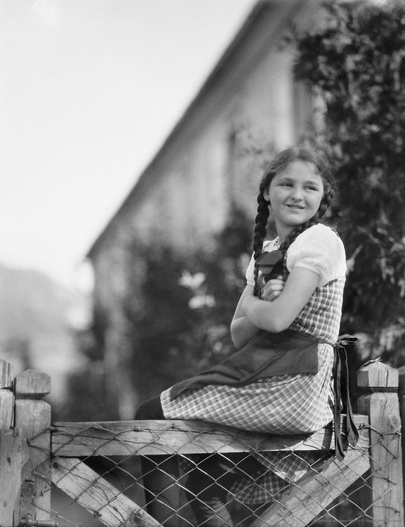 Young Girl with Braids, Molln, Austria, circa 1921