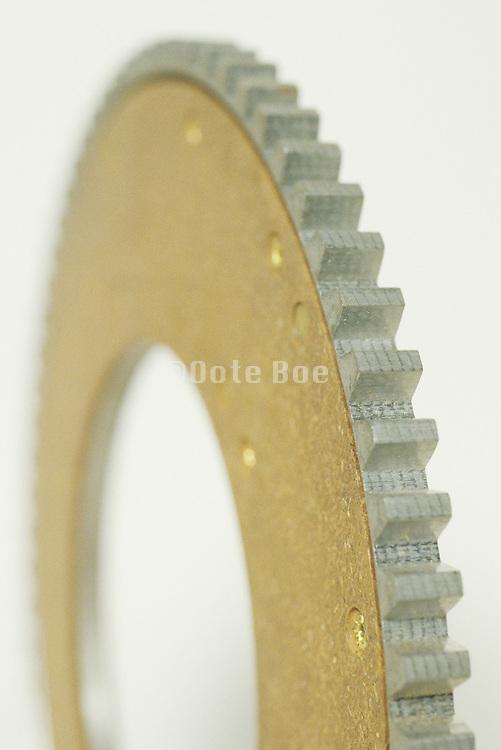 close up of gear wheel