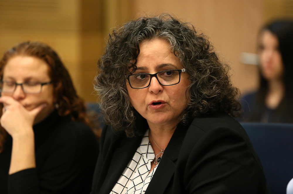 Arab-Israeli lawmaker, Member of the Knesset Aida Touma-Suleiman at the Knesset, Israel's parliament in Jerusalem, on March 29, 2016.