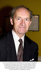The HON.THOMAS PAKENHAM son of the Earl of Longford, at a party in London on 5th December 2000.OJW 31