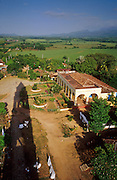 23 JULY 2002 - TRINIDAD, SANCTI SPIRITUS, CUBA: The Hacienda Iznaga in the Valle de los Ingenios (Valley of the Sugar Mills) near the colonial city of Trinidad, province of Sancti Spiritus, Cuba, July 23, 2002. Trinidad is one of the oldest cities in Cuba and was founded in 1514. Valle de los Ingenios was the heart of Cuba's early sugar industry and is still a leading producer of sugar, one of Cuba's most important cash crops. Hacienda Iznaga was one of the first sugar plantations in the Trinidad area..PHOTO BY JACK KURTZ