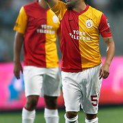 Galatasaray's Engin BAYTAR during their Turkish soccer superleague match Istanbul BBSpor between Galatasaray at the Ataturk Olympic stadium in Istanbul Turkey on Sunday 11 September 2011. Photo by TURKPIX