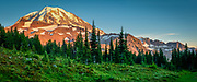 Sunset at Mount Rainier's Spray Park area