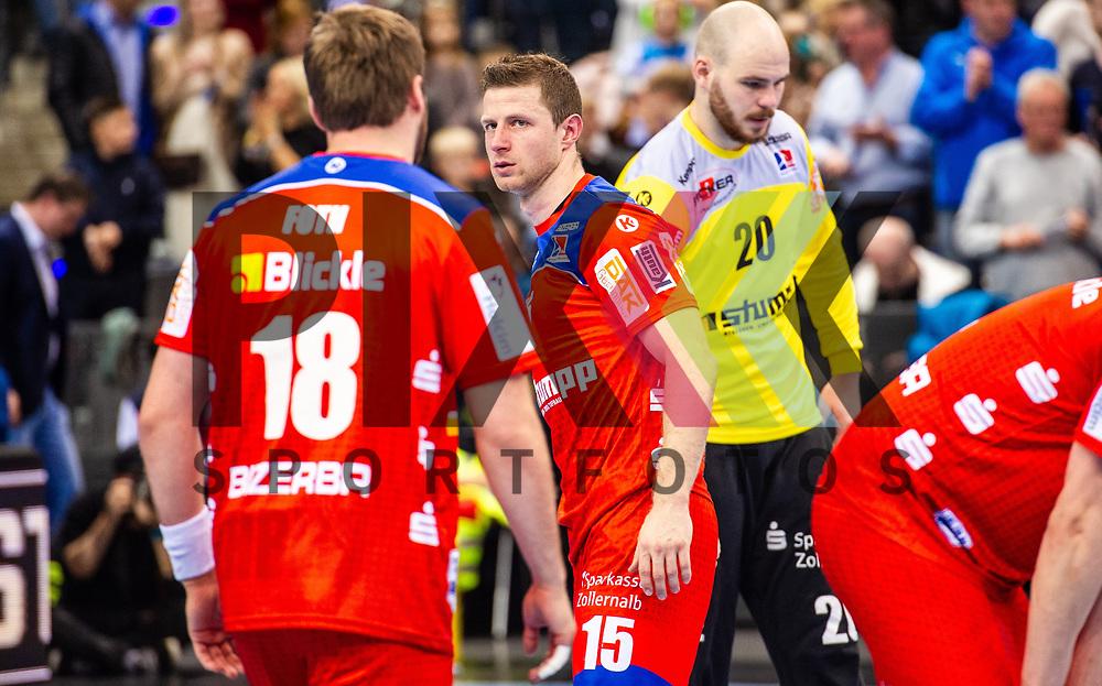 Martin Strobel (HBW Balingen-Weilstetten #15) ; sichtlich unzufrieden beim Spiel in der Handball Bundesliga, TVB 1898 Stuttgart - HBW Balingen-Weilstetten.<br /> <br /> Foto © PIX-Sportfotos *** Foto ist honorarpflichtig! *** Auf Anfrage in hoeherer Qualitaet/Aufloesung. Belegexemplar erbeten. Veroeffentlichung ausschliesslich fuer journalistisch-publizistische Zwecke. For editorial use only.