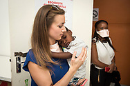 A Parliamentary UNION Caucus visit the Paediatric ward during their visit to the Brooklyn Chest Hospital in Cape Town, South Africa.<br /> Photo © Steve Forrest/Workers' Photos