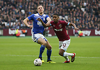 West Ham United's Xande Silva goes past Birmingham City's Michael Morrison<br /> <br /> Photographer Rob Newell/CameraSport<br /> <br /> Emirates FA Cup Third Round - West Ham United v Birmingham City - Saturday 5th January 2019 - London Stadium - London<br />  <br /> World Copyright © 2019 CameraSport. All rights reserved. 43 Linden Ave. Countesthorpe. Leicester. England. LE8 5PG - Tel: +44 (0) 116 277 4147 - admin@camerasport.com - www.camerasport.com