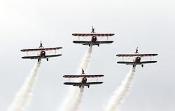Breitling Wingwalkers, Farnborough International Airshow, London Farnborough Airport UK, 15 July 2016, Photo by Richard Goldschmidt