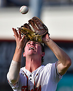 Edwardsville shortstop Evan Funkhouser catches an OFallon pop fly near third base. OFallon defeated Edwardsville in a baseball sectional playoff game at Edwardsville High School in Edwardsville, IL on Wednesday June 9, 2021. <br /> Tim Vizer/Special to STLhighschoolsports.com.
