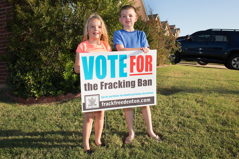 The Bush family lives between two fracking sites