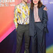 Sarah Lutton and Anders Danielsen Lie attended (Bergman Island - Worst Person in the world) Screen Talk - Sarah Lutton at BFI Southbank, London, UK. 9 October 2021.