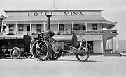 9022-116  Mina Hotel at Mina, Nevada 1908, steam tractor