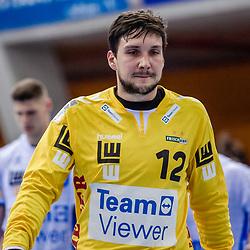 enttaeuscht: Daniel Rebmann (FRISCH AUF! Goeppingen #12) ; LIQUI MOLY HBL 20/21  1. Handball-Bundesliga: TVB Stuttgart - FRISCH AUF! Goeppingen am 24.04.2021 in Stuttgart (SCHARRena), Baden-Wuerttemberg, Deutschland,<br /> <br /> Foto © PIX-Sportfotos *** Foto ist honorarpflichtig! *** Auf Anfrage in hoeherer Qualitaet/Aufloesung. Belegexemplar erbeten. Veroeffentlichung ausschliesslich fuer journalistisch-publizistische Zwecke. For editorial use only.