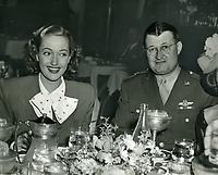 1943 Dorothy LaMour & General Vic Beau at Ciro's nightclub