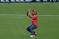 Essex captain Ravi Bopara takes a catch to dismiss Hampshire all-rounder Gareth Andrew during the Royal London One Day Cup match between Hampshire County Cricket Club and Essex County Cricket Club at the Ageas Bowl, Southampton, United Kingdom on 5 June 2016. Photo by David Vokes.