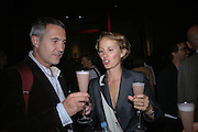 Matthew Hilton and Corinna Dean, Established and Sons UK Launch during Design Week. The Bus Depot, Hertford Road. Hoxton. 22 September 2005.  ONE TIME USE ONLY - DO NOT ARCHIVE © Copyright Photograph by Dafydd Jones 66 Stockwell Park Rd. London SW9 0DA Tel 020 7733 0108 www.dafjones.com