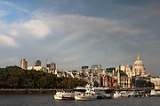 Clouds over the City of London just before sunset