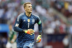 goalkeeper Manuel Neuer of Germany during the 2018 FIFA World Cup Russia group F match between Germany and Mexico at the Luzhniki Stadium on June 17, 2018 in Moscow, Russia