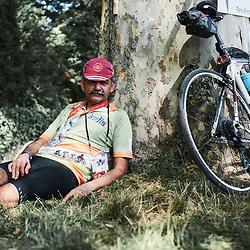 Rider Anil Puri, after finishing the PARIS-BREST-PARIS Randonneur race. Rambouillet, France. August 22, 2019.