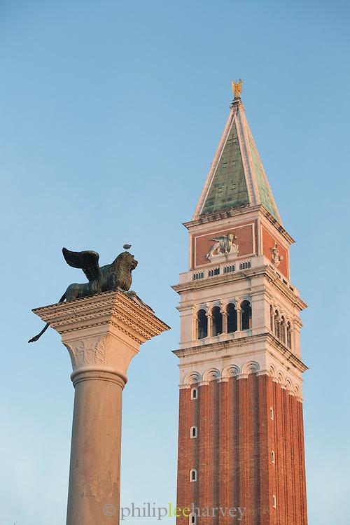 St Mark's Campanile, St Mark's Square.Venice, Italy, Europe