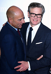 Mark Strong and Colin Firth attending the World Premiere of Kingsman: The Golden Circle, at Cineworld in Leicester Square, London. Picture Date: Monday 18 September. Photo credit should read: Ian West/PA Wire