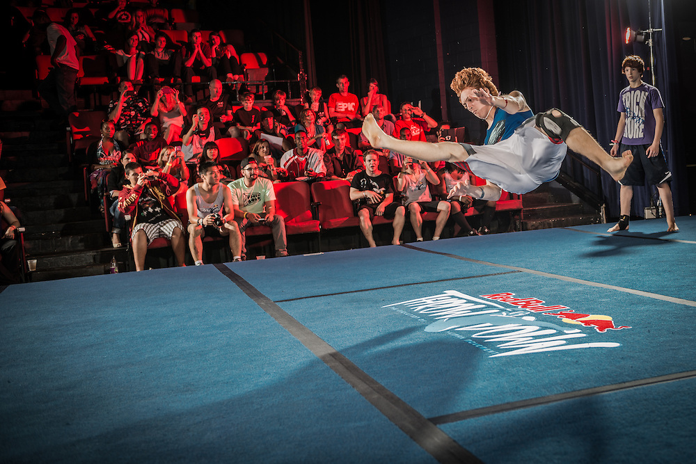 A competitor competes during the junior event at Red Bull Throwdown in Atlanta, Georgia on August 25th, 2013