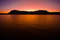 Twilight, Lake Powell, Glen Canyon National Recreation Area, Arizona/Utah border USA