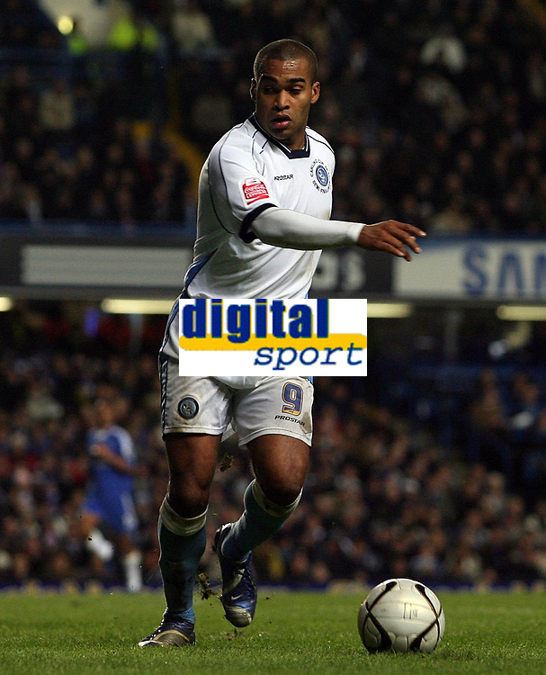 Photo: Paul Thomas.<br /> Chelsea v Wycombe Wanderers. Carling Cup, Semi Final 2nd Leg. 23/01/2007.<br /> <br /> Jermaine Easter of Wycombe... did he impress tonight to interest any Premiership Clubs??