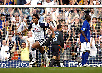 Photo: Chris Ratcliffe.<br />Tottenham Hotspur v Everton. The Barclays Premiership.<br />15/10/2005.<br />Mido turns to celebrate putting Spurs 1-0 up at White Hart Lane