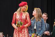 Koningsdag 2018 in Groningen / Kingsday 2018 in Groningen.<br /> <br /> Op de foto: Prinses Alexia en Koningin Maxima ///  Princess Alexia and Queen Maxima