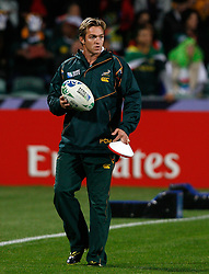 South Africa's kicking coach Percy Montgomery...Rugby Union World Cup 2011 Pool D..South Africa v Namibia..22nd September, 2011.(Credit Image: © Sport Image/Sportimage/Cal Sport Media/ZUMAPRESS.com)