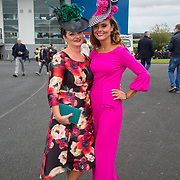 08.10.17.            <br /> Pictured at Limerick Racecourse for the  Keanes Most Stylish Lady competition were, Sheila O'Sullivan and Tasha O'Connor. Picture: Alan Place