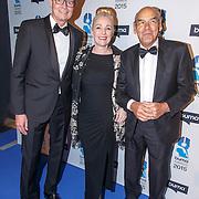 NLD/Hilversum/20150217 - Inloop Buma Awards 2015, BumaStemra directie-voorzitter Hein van der Ree, Jan Aalberts en partner