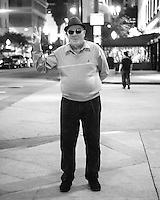 A guy in downtown Long Beach posing for me.
