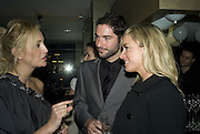 DR. HALEH ABIVARDI AND DR. GOLNAR ABIVARDI, TAMZIN OUTHWAITE AND TOM ELLIS, Swiss Smile Clinic Christmas Drinks. Brook St. London. 5 December 2007. -DO NOT ARCHIVE-© Copyright Photograph by Dafydd Jones. 248 Clapham Rd. London SW9 0PZ. Tel 0207 820 0771. www.dafjones.com.