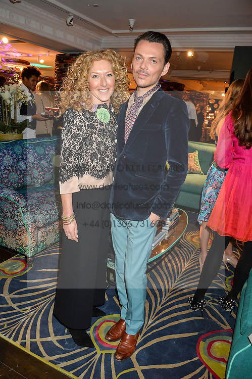 KELLY HOPPEN and MATTHEW WILLIAMSON at the Duresta For Matthew Williamson Exclusive Launch At Harrods, Knightsbridge, London on 10th March 2016.