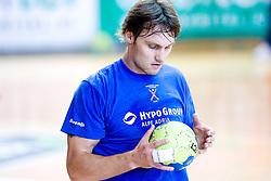Luka Zvizej at practice of Slovenian Handball Men National Team, on June 4, 2009, in Arena Kodeljevo, Ljubljana, Slovenia. (Photo by Vid Ponikvar / Sportida)