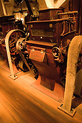 Minnesota, Twin Cities, Minneapolis-Saint Paul: Mill City Museum, showing flour milling history in Minneapolis.  Mill used to change wheat into flour..Photo mnqual252-75341..Photo copyright Lee Foster, www.fostertravel.com, 510-549-2202, lee@fostertravel.com.