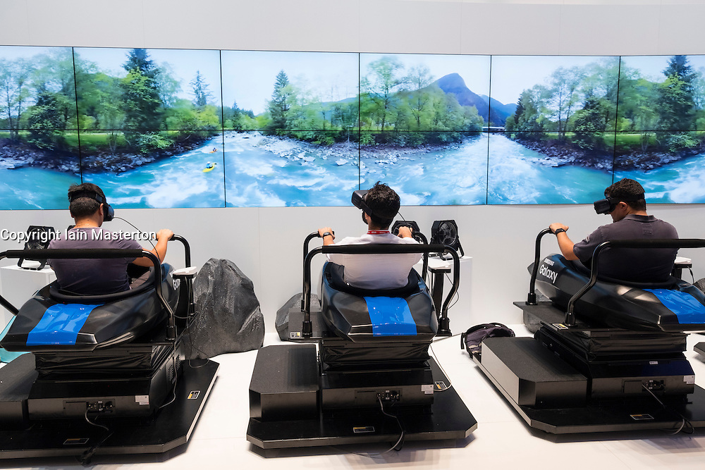 Samsung, virtual reality 3D rides at Samsung stand at 2016  IFA (Internationale Funkausstellung Berlin), Berlin, Germany