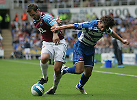 Photo: Lee Earle.<br /> Reading v West Ham United. The FA Barclays Premiership. 01/09/2007.West Ham's George McCartney (L) battles with Stephen Hunnt.