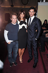 Left to right, TOM HOLLANDER, HELENA CHRISTENSEN and DAVID GANDY at a screening of the short film 'Away We Stay' directed by Edoardo Ponti held at The Electric Cinema, Portobello Road, London W1 on 15th November 2010.