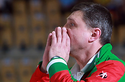 Coach of Belorussia K. Charovarov at handball game between women national teams of Slovenia and Belorussia, second qualification game for the European Chamionship 2009, on June 7, 2008, in Arena Zlatorog, Celje, Slovenija. Win of Belorussia, who qualified for EC 2009 in Macedonia. (Photo by Vid Ponikvar / Sportal Images)